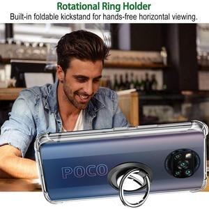 Image 3 - X3 פרו מקרה, מתכת טבעת קאפה Poco X3 פרו נגד הלם כיסוי עבור Xiaomi Pocophone F3 סיליקון X 3 M3 F3 F2 מקרה Pocco Poko Poco X3 Covers Poco X3 Pro Cover Pocophone F3 Poco F3 Case