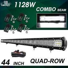 цена на CO LIGHT 16D 4-Row Spot Flood Offroad LED Work Light Bar 44 112800LM ATV 4x4 Bar LED Truck Bar Light For SUV 4WD 4x4 Car Trucks