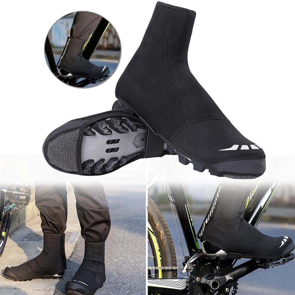 Cycling Shoes Cover Man Shoescover Winter Warm Windproof Waterproof Wear Resistant For MTB Road Bike Racing Shoe Protector 42 46|  - title=