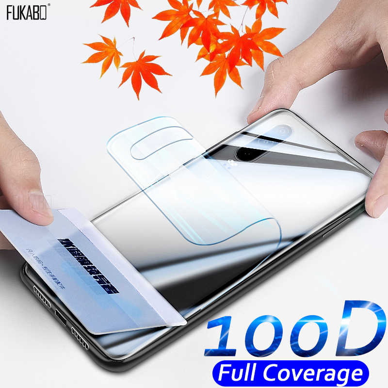 100D Curved Full Cover Back Hydrogel Film For Huawei P30 P20 Pro P10 Lite P Smart 2019 Mate 30 Pro Screen Protector Not Glass