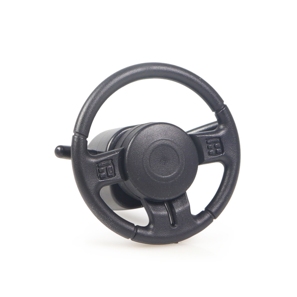 TRX4 SCX10 <font><b>1/10</b></font> Black Durable <font><b>Drifting</b></font> Steering <font><b>Wheel</b></font> Interior Replacement Mini Plastic Accessories Crawler <font><b>RC</b></font> Car Simulation image
