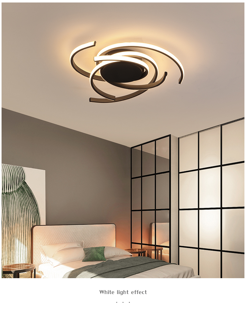 H0c682a65e399426993f3e9c66bc68344m Creative modern led ceiling lights living room bedroom study balcony indoor lighting black white aluminum ceiling lamp fixture