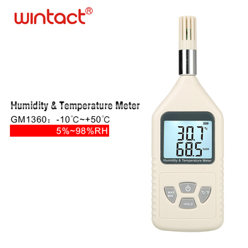 Dew point moisture analyzer,GM1360 LCD Digital Temperature Humidity Meter Tester Thermometer Hygrometer