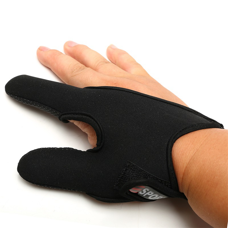 1pc Neoprene Fishing Gloves Half Protector Anti-Slip Anti-cut Two Finger Rod Wear Fish Catch Fingerless Outdoor Accessory