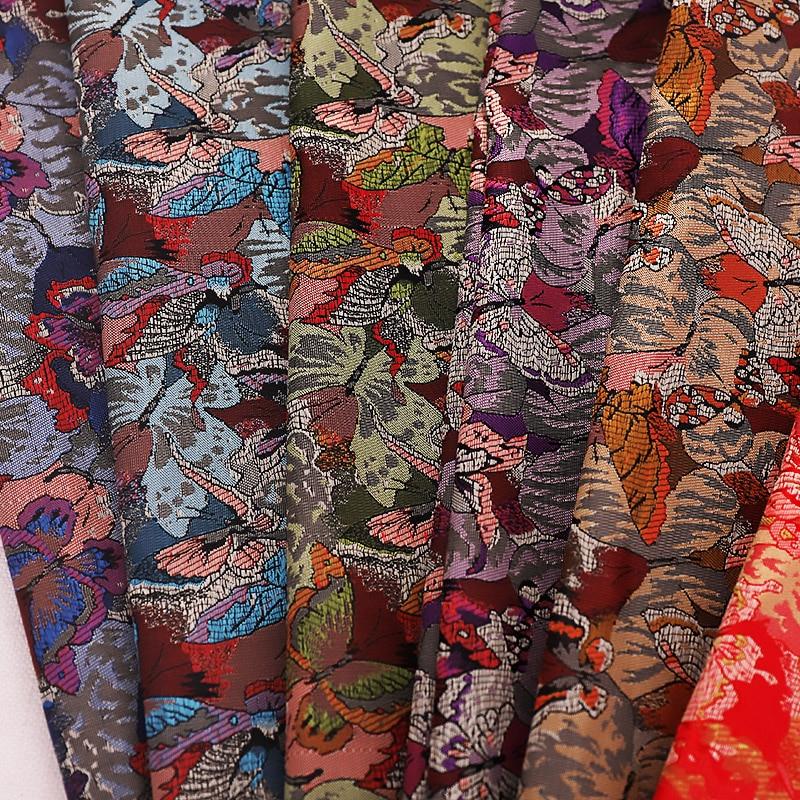 Breite 90cm Brokat Satin Material Für Kleidung Mit Schmetterling Muster