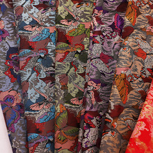 Width 90cm Brocade Fabric Satin Material For Clothes With Butterfly Pattern