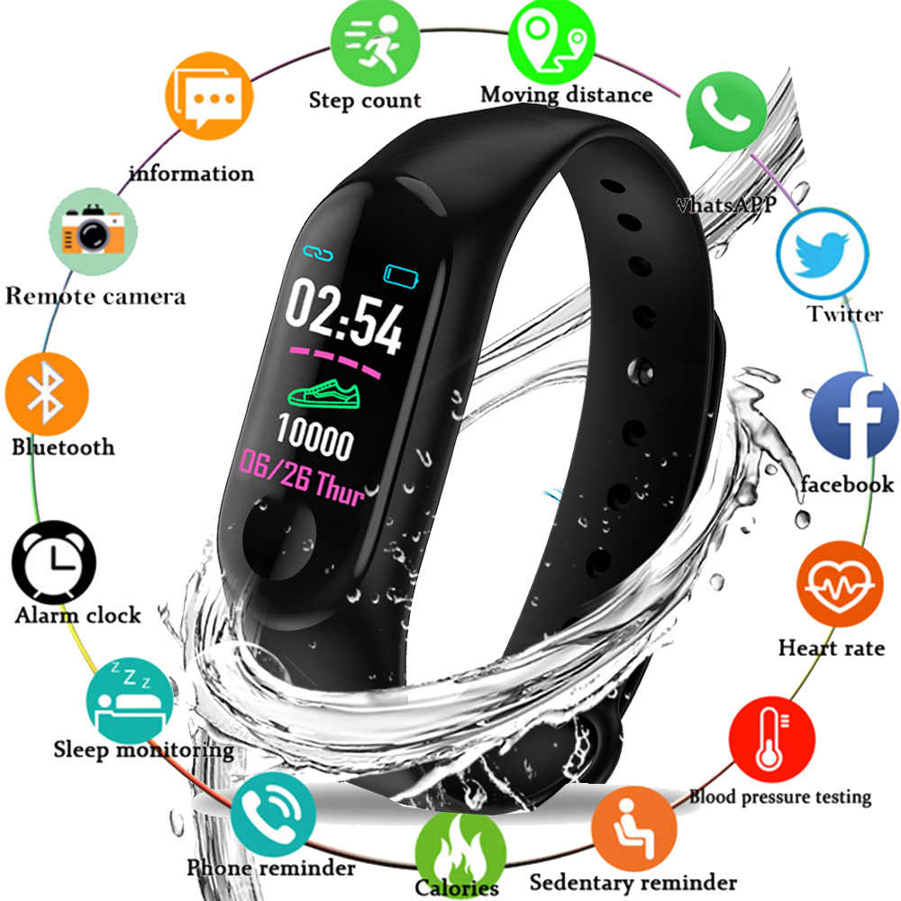 M3 Color IPS Screen Smart Sport Fitness Bracelet For Men Women Blood Pressure Activity Tracker Smart Wristband Watches Pedometer