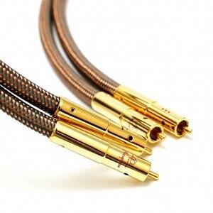 Image 3 - Hi Fi высококачественный кабель Accuphase 40 го юбилейного выпуска OCC из чистой меди с разъемом RCA, аудиокабель с золотым покрытием
