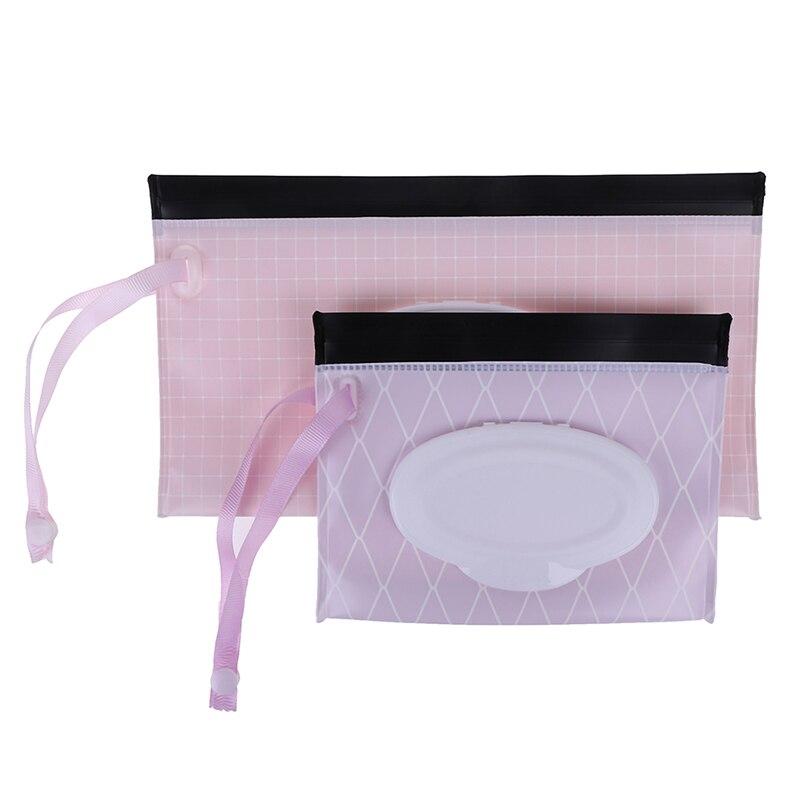 Экологичная коробка для детских салфеток, коробка для влажных салфеток, очищающая сумка для переноски, раскладушка, защелкивающийся ремешок, чехол-контейнер для салфеток, Сменные аксессуары