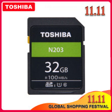 TOSHIBA-Memoria SD N203 Original de alta velocidad, tarjeta SD N203 de 32G, 64G, 128G, C10, compatible con disparos en Full HD para cámara Digital SLR Canon y Nikon
