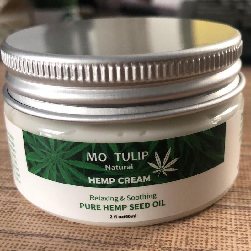 60ml Hemp Oil Face Cream Hyaluronic Acid Moisturizer Nourishing Collagen Skin Care Cream Anti-inflammation And Arthritis Pain