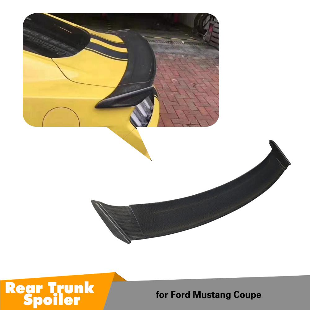 Carbon Fiber <font><b>Spoiler</b></font> For Ford <font><b>Mustang</b></font> <font><b>2015</b></font> 2016 2017 Wing <font><b>Spoilers</b></font> High Quality Auto Accessories image