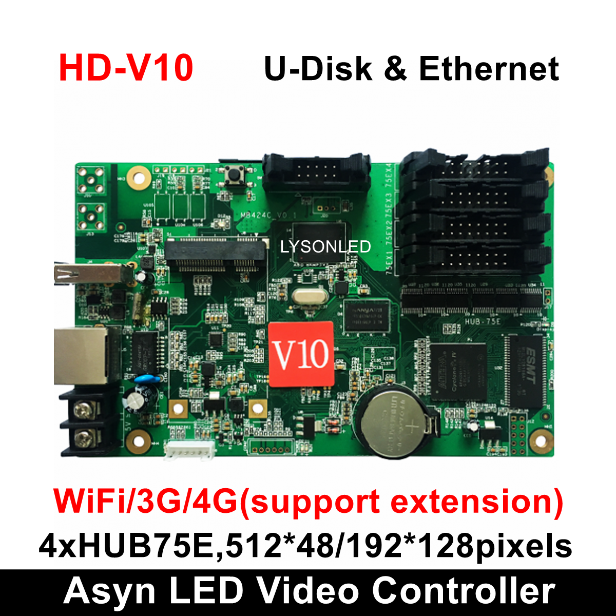 Huidu Asynous HD-V10 HD-V15 Full Color Vehicle Mounted LED Control Card Can Add WIFI 3G 4G Mode
