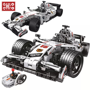 Remote Control Racing Car Formula 1 Building Block Set 729 Pieces