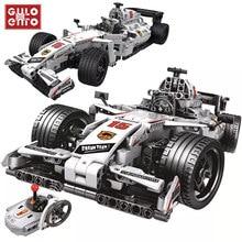 729 adet şehir uzaktan kumanda hız Racer seti yapı taşları RC yarış spor araba tuğla eğitim çocuk oyuncakları hediyeler