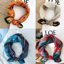 2020 nuovo arrivo primavera autunno classico Hijab Bandana 100% pura sciarpa di seta Twill fatto a mano 53*53 Cm scialle avvolgere per donna donna