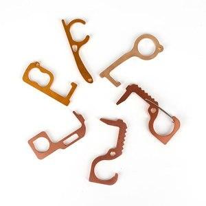 Портативный гигиенический ручной металлический Открыватель двери ручка лифта антимикробный латунный ключ