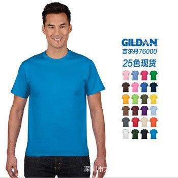 GILDAN/Giordan/Jie Dan 76000 180G Solid Color Loose-Fit Trend T-shirt Cultural Shirt