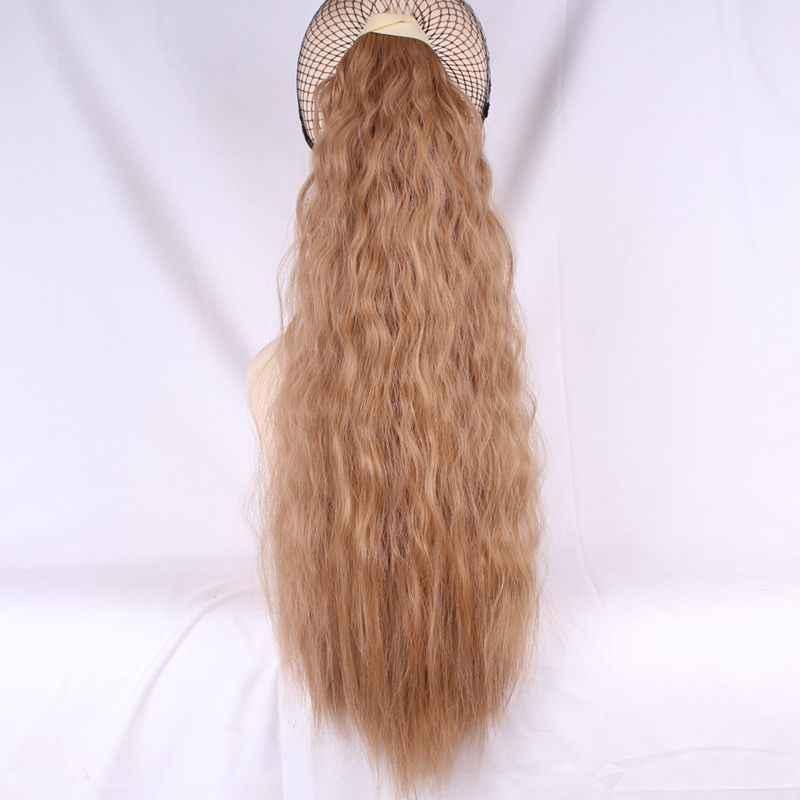 Joy & beauty cabelo sintético, encaracolado longo, rabo de cavalo, cordão, extensão de cabelo, fibra de alta temperatura, 60cm