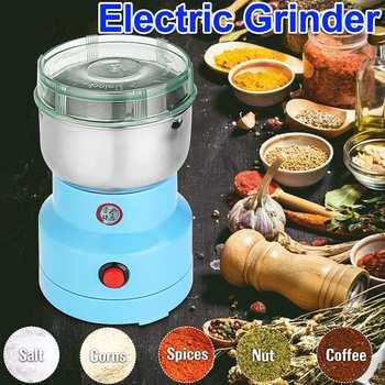 Электрическая зерношлифовальная машина 220 В для трав, специй, орехов, кофейных зерен, многофункциональная зерношлифовальная машина, мельни...