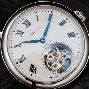Image 3 - ספיר חיוג Mens Tourbillon שעונים מקורי ST8000 תנועה תנין עור גברים מכאני שעון יד למעלה מותג