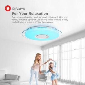Image 4 - Offdarks nowoczesne oświetlenie sufitowe LED głośnik Bluetooth z pilotem APP salon sypialnia kuchnia lampa sufitowa