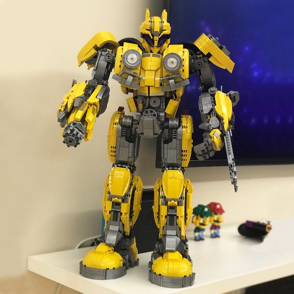 Creator Expert Ideas Optimus Transformation Robot Truck Moc Modular Bricks Bumblebeed Transformationer Building Blocks Model
