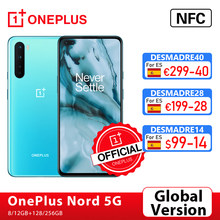 Globale Version OnePlus Nord 5G OnePlus Official Store Snapdragon 765G Smartphone 8GB 128GB 6.44 ''90Hz AMOLED 48MP Quad Cams Warp Ladung 30T