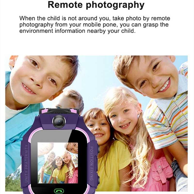 AISHI Q19 enfant montre intelligente LBS Position emplacement SOS caméra téléphone intelligent bébé montre voix Chat Smartwatch montre Mobile VS Q02 Z6