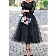 Primavera moda Bohemia negro vestido de mujer plisado Vintage encaje cuello de barco Formal boda cóctel noche fiesta Swing vestido