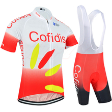 Europe tour pro team Red White cofidis cycling jersey set Bicycle maillot breathable MTB quick dry bike Ropa ciclismo 9D gel pad стоимость