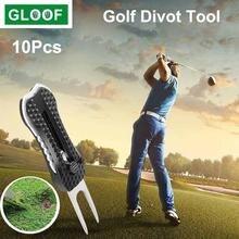 10 шт/лот складной инструмент для гольфа divot Инструмент мяча