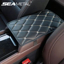 Accessories Car Armrest Box Mat Cover Auto Arm Rest Storage Bag Mats PU Leather Car Storage Carpet Protector Pads Goods Interior
