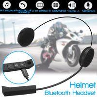 Motorfiets Draadloze Bluetooth Helm Headset Helm Intercom Luidspreker Met Microfoon Handsfree Stereo Hoofdtelefoon Oortelefoon