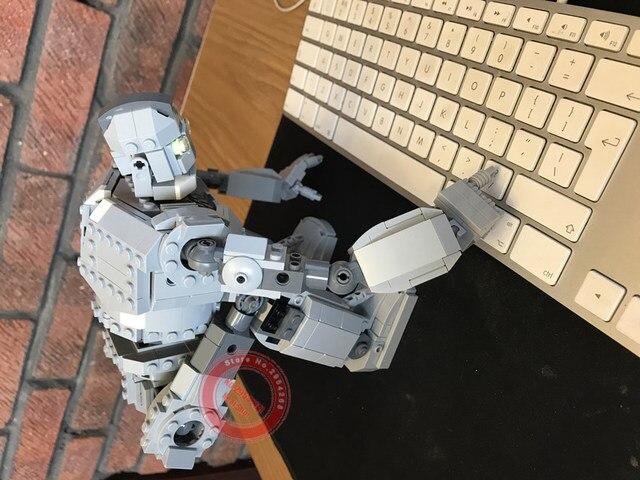 Новые MOC робот Железный Робот Игрушки гигантский Fit Lepining Technic городские фигурки Voltron модель строительные блоки кирпичи дети мальчик подарки