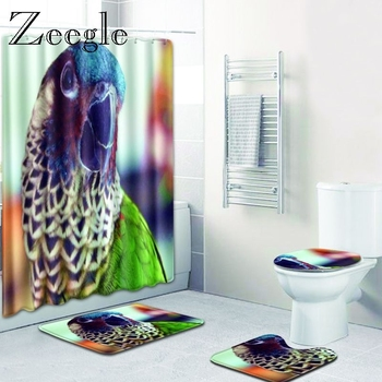 Zeegle Cartoon Pattern Rug for Bathroom Modern Toilet Bath Mats Memory Foam Bath Mats Bathroom Water Absorption Rug Bathroom Mat