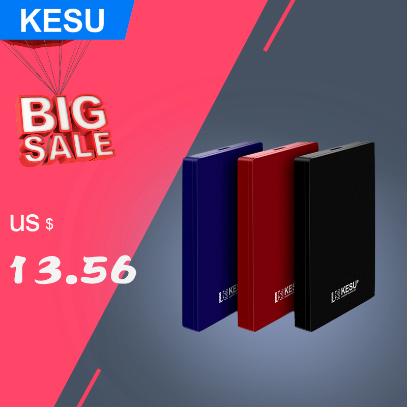 KESU Disk Externo Disco Duro External-Hard-Drive 160GB 250GB 1tb Hdd Ps4/xbox-One 2TB