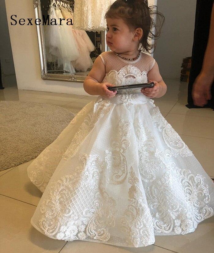 Baby Christening FlowerGirl Party Wedding Bridesmaid Baptism Naming Dress 6-30M