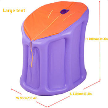 Inflatable Sauna Tent With Air Pump PVC Sauna Tent Portable Steam Sauna Lose Weight Detox Therapy (Not Include Steam Generator) portable sauna room steam sauna bath portable sauna lose weight detox machine with foot hole steam generator private home spa