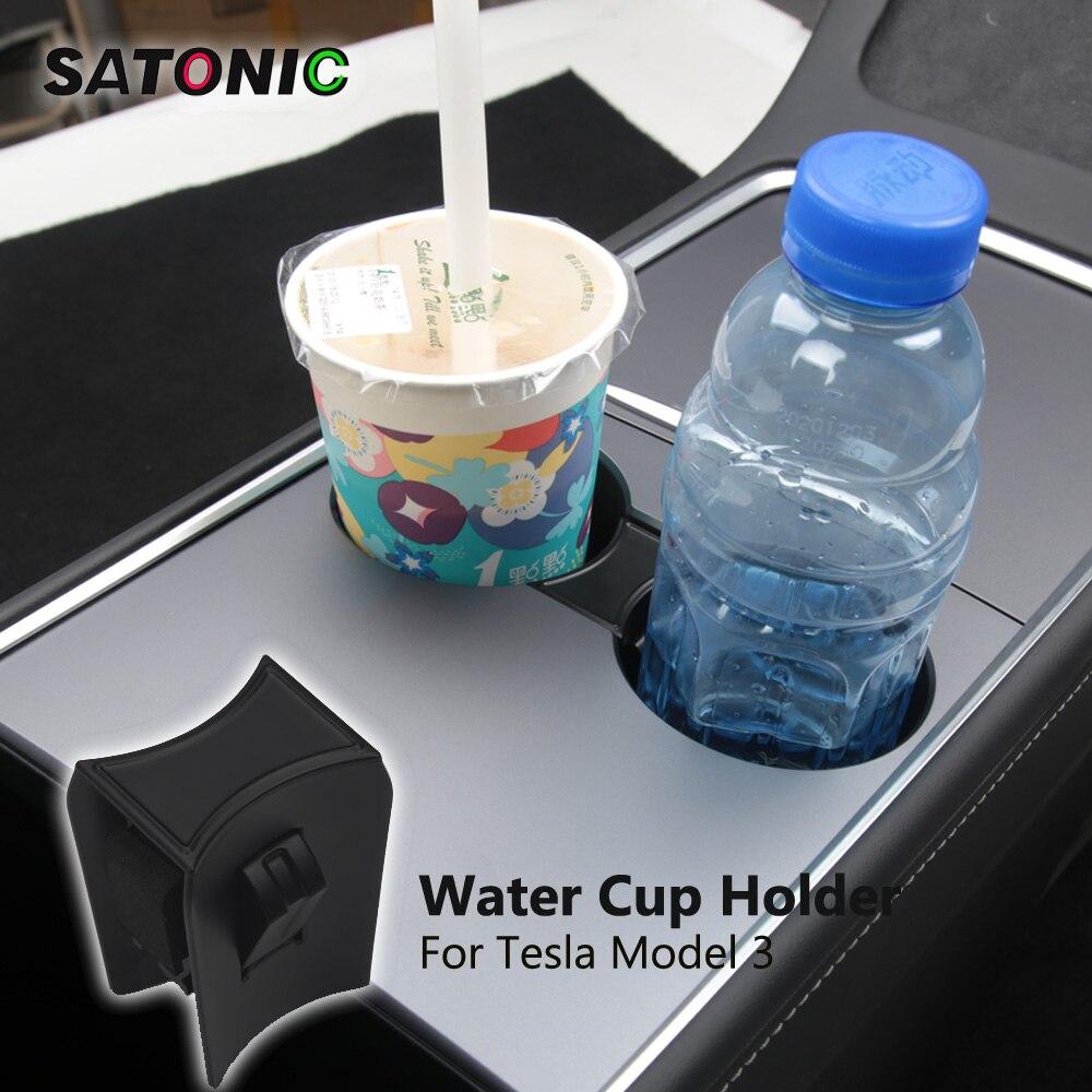 Najnowszy uchwyt na kubek wody akcesoria samochodowe części do wnętrza Organizer do tesli Model 3 Model Y Model trzy