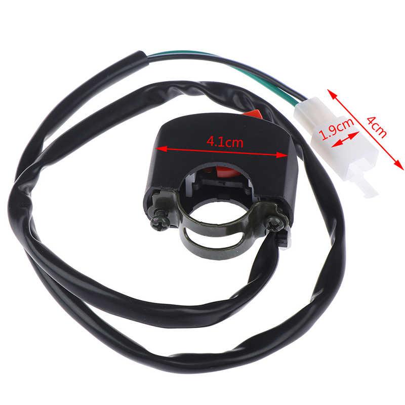 1 PC Universal Stang Sepeda Motor Flameout Switch On Off Tombol untuk Moto Motor Sepeda ATV DC12V/10A Hitam