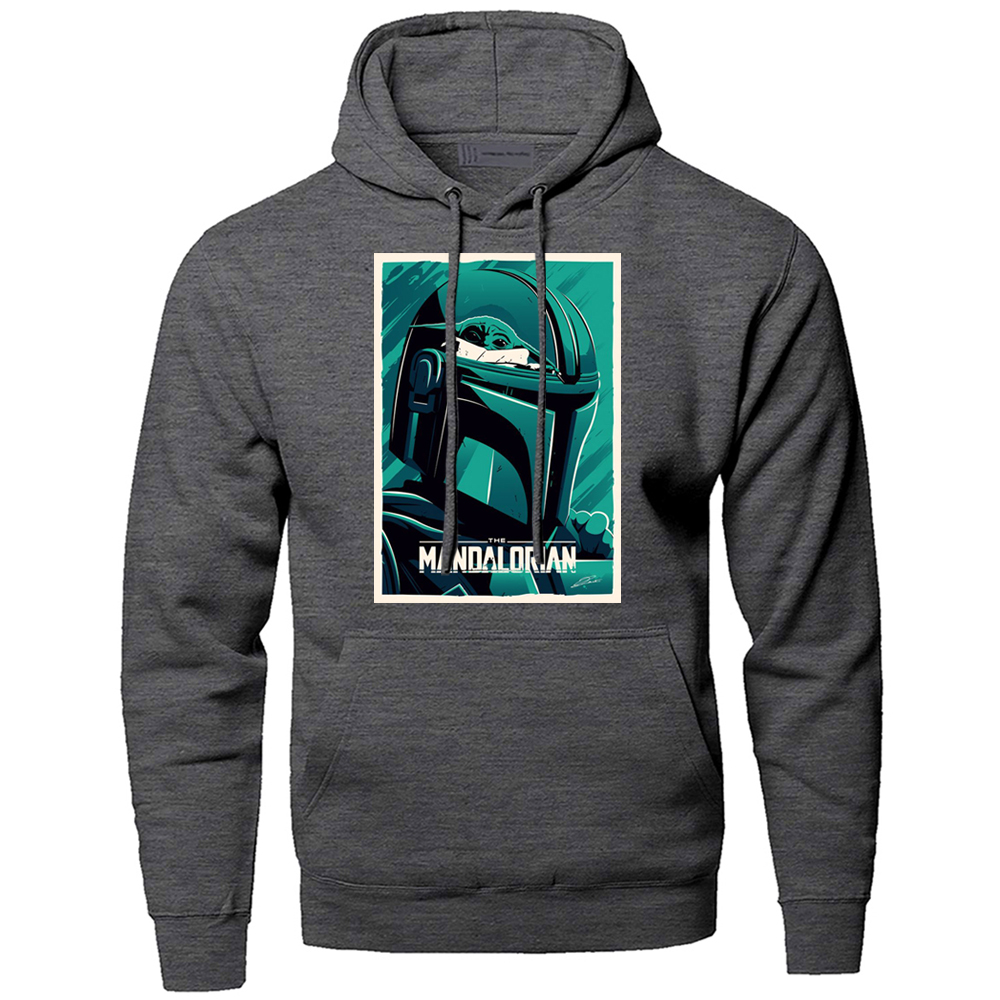 Star Wars Mandalorian Hoodies Men Sweatshirt Hoody Boba Fett Space Opera TV Show Starwars Pullover Words Of Skywalker Streetwear