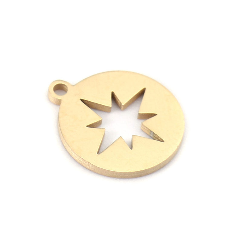 Star Charm//Pendant Tibetan Silver 10mm  100 Charms Accessory Jewellery Making