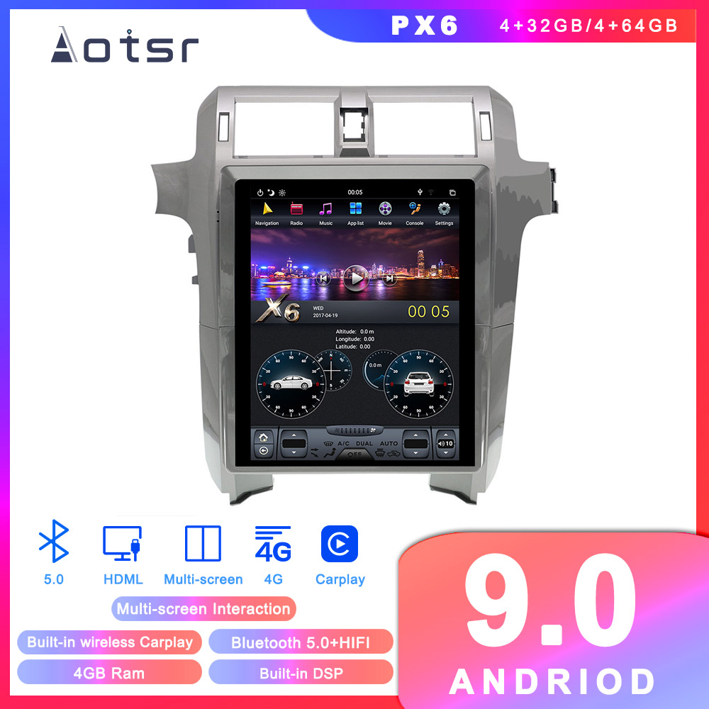 Android 9 Tesla style Car DVD Player GPS navigation for <font><b>Lexus</b></font> GX400 GX460 2010-2018 Car Auto Radio Stereo Multimedia Player Unit image