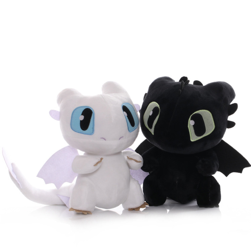 20-50CM New Hot cartoon Dragon Movie Doll Night Fury Light Fury Plush Toy Home decoration Collect toys for kids gifts image