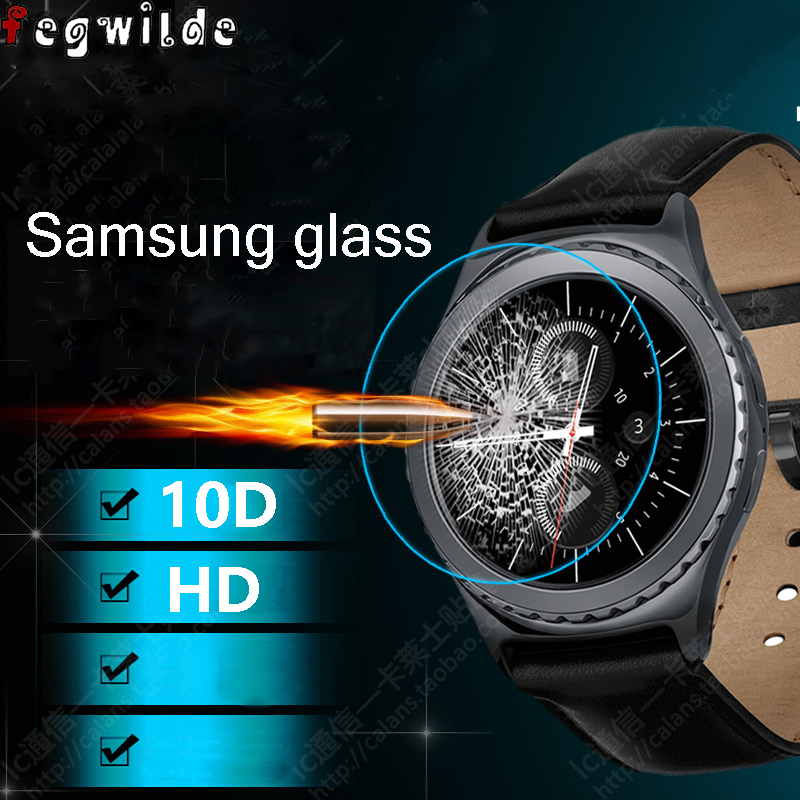 Galaxy Watch 46mm Strap For Samsung Gear S3 Frontier Galaxy Watch 42mm Gear Sport S2 Screen Protector 9H 3D Tempered Glass S 3