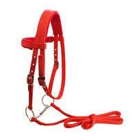 S/M/L equipo de equitación ajustable cabestro caballo brida con Bit y correa de rienda Para Caballo accesorios ecuestres suave espesar