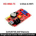 HD W60 75 Hub75B Ports Kleine Grafik Wifi Drahtlose LED Control Karte Smart Einstellung|LED-Anzeige|   -