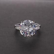 Sterling Silver Big 12mm Round Zircon Women's Ring Custom Mozanne 12 Carat Sparkling AAAAA CZ Wedding Rings size 5-12