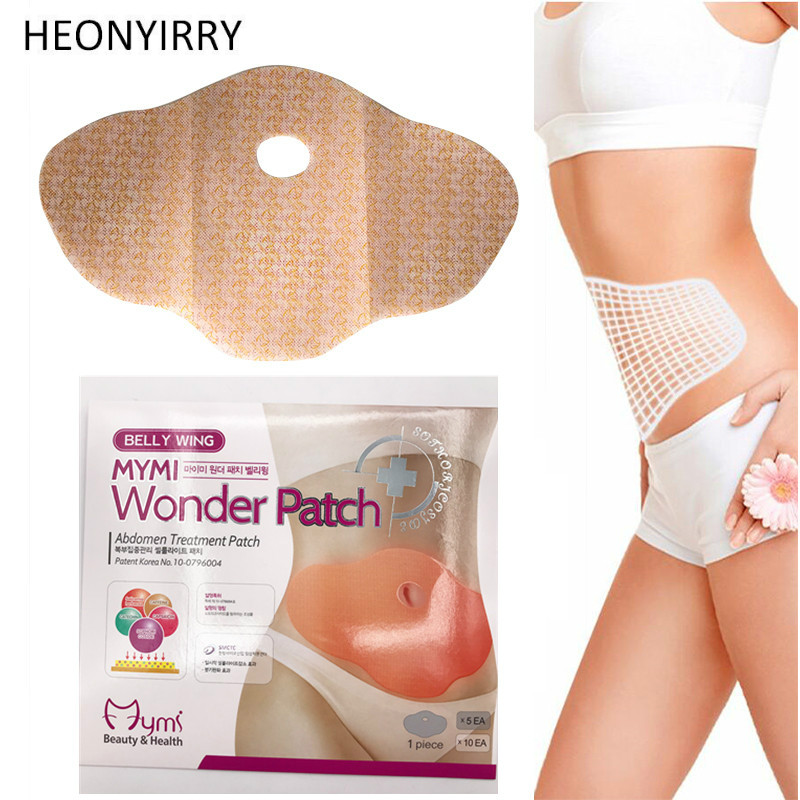 10 Pcs Mymi Wonder Patch Quick Slimming Patch Belly Slim Patch Abdomen Slimming Fat Burning Navel Stick Weight Loss Slimer Tool
